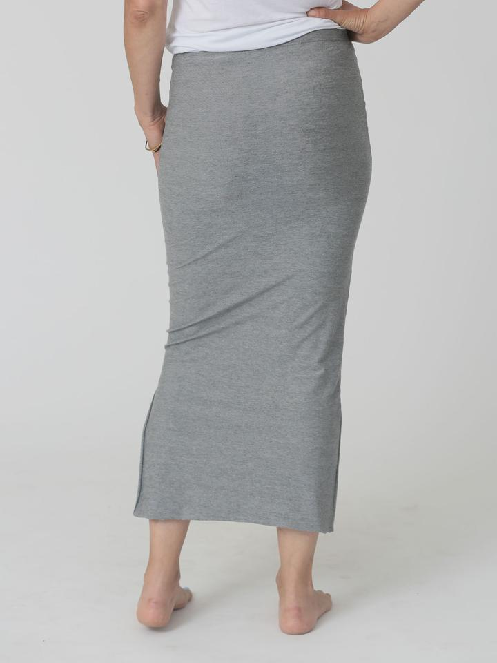 qube maxi skirt in grey at twang and pearl
