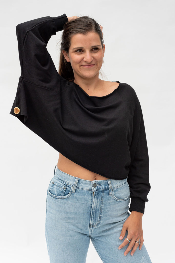 Qube Mali Crop in Black at Twang and Pearl