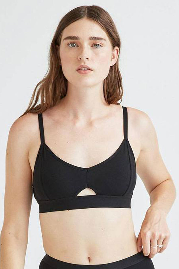 RicherPoorer Cutout Bralette Black at Twang and Pearl