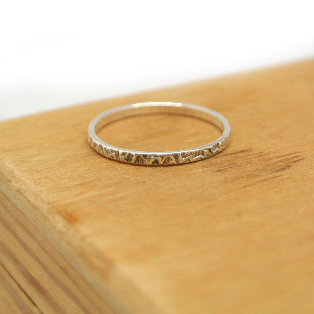 twang and pearl sterling stacking rings stamped