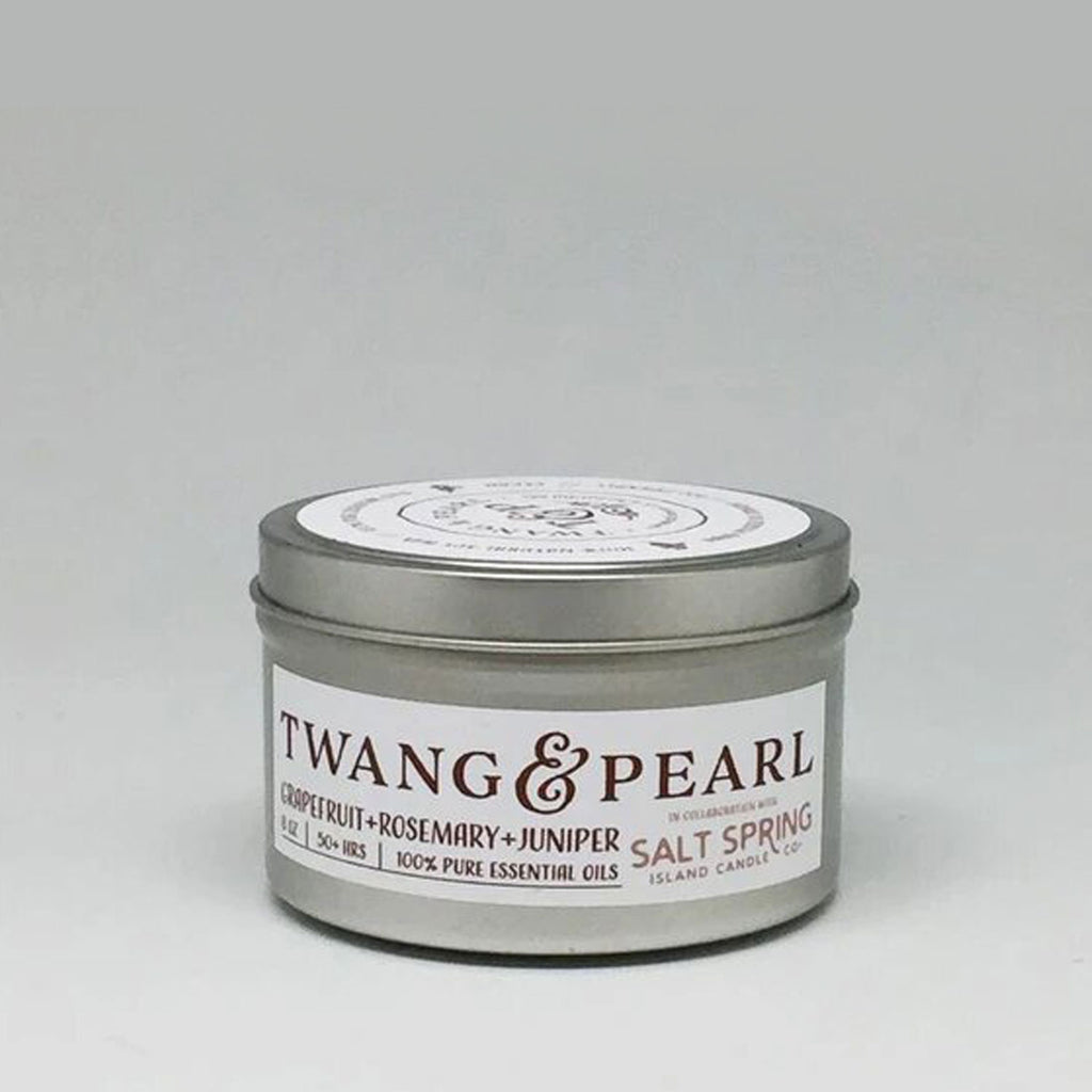 salt spring candle twang scent twang and pearl