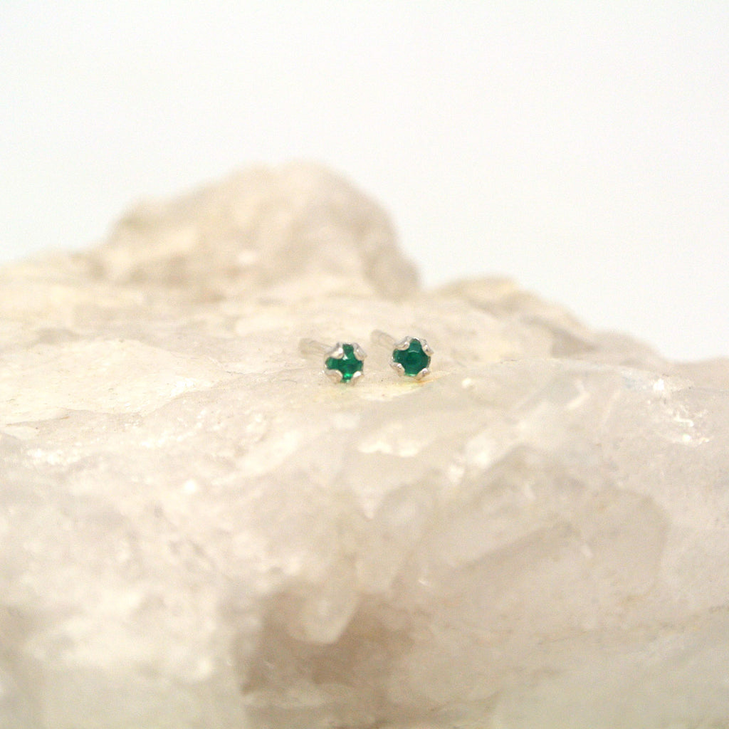 medium gem stone studs at twang and pearl