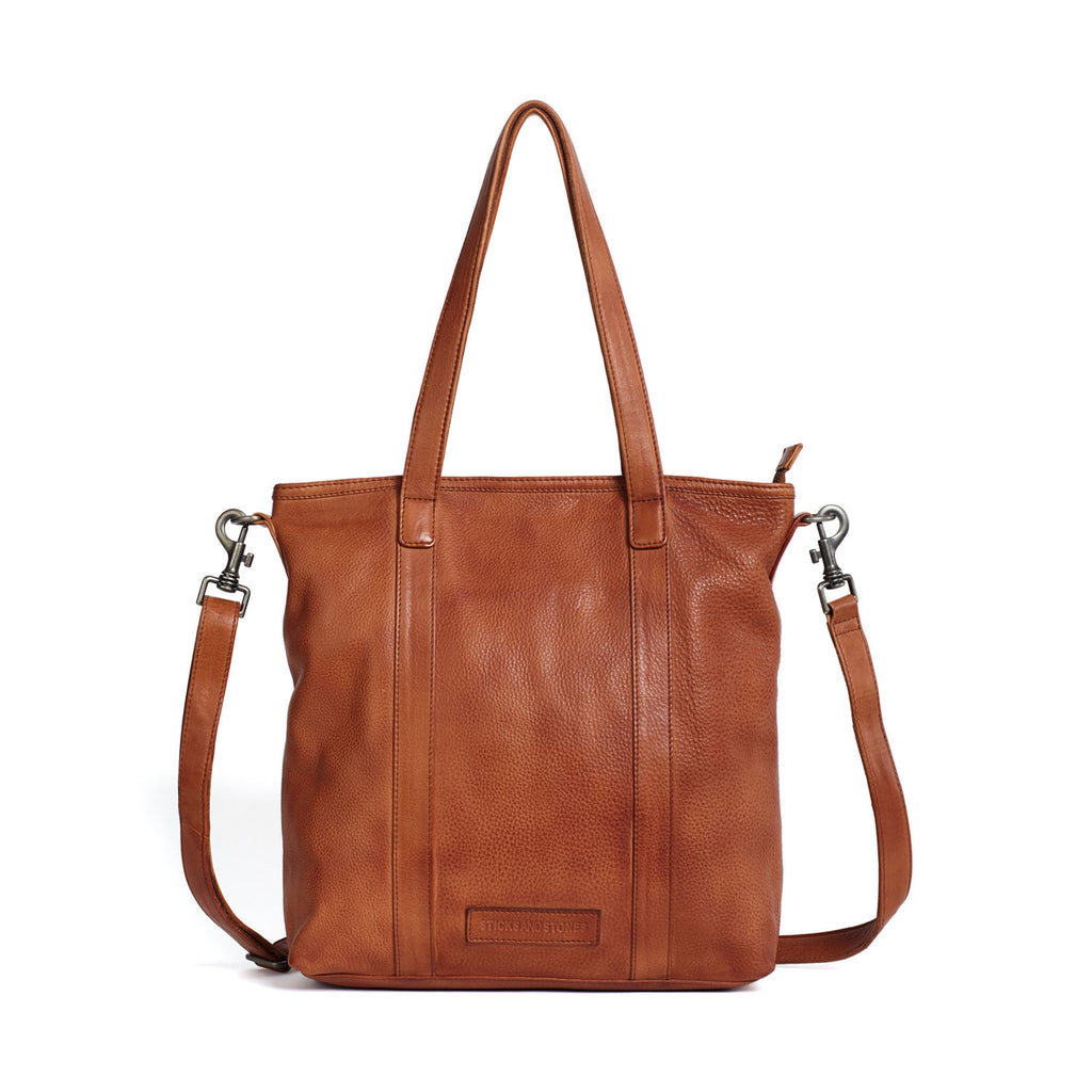 Sticks and Stones Ustica Bag Cognac at Twang and Pearl
