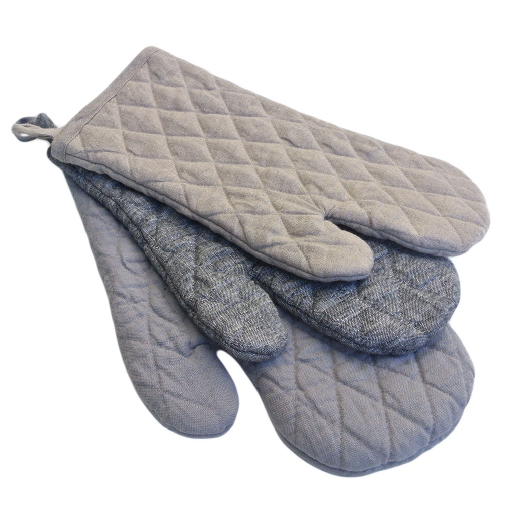 vikolino linen quilted oven mitt twang and pearl