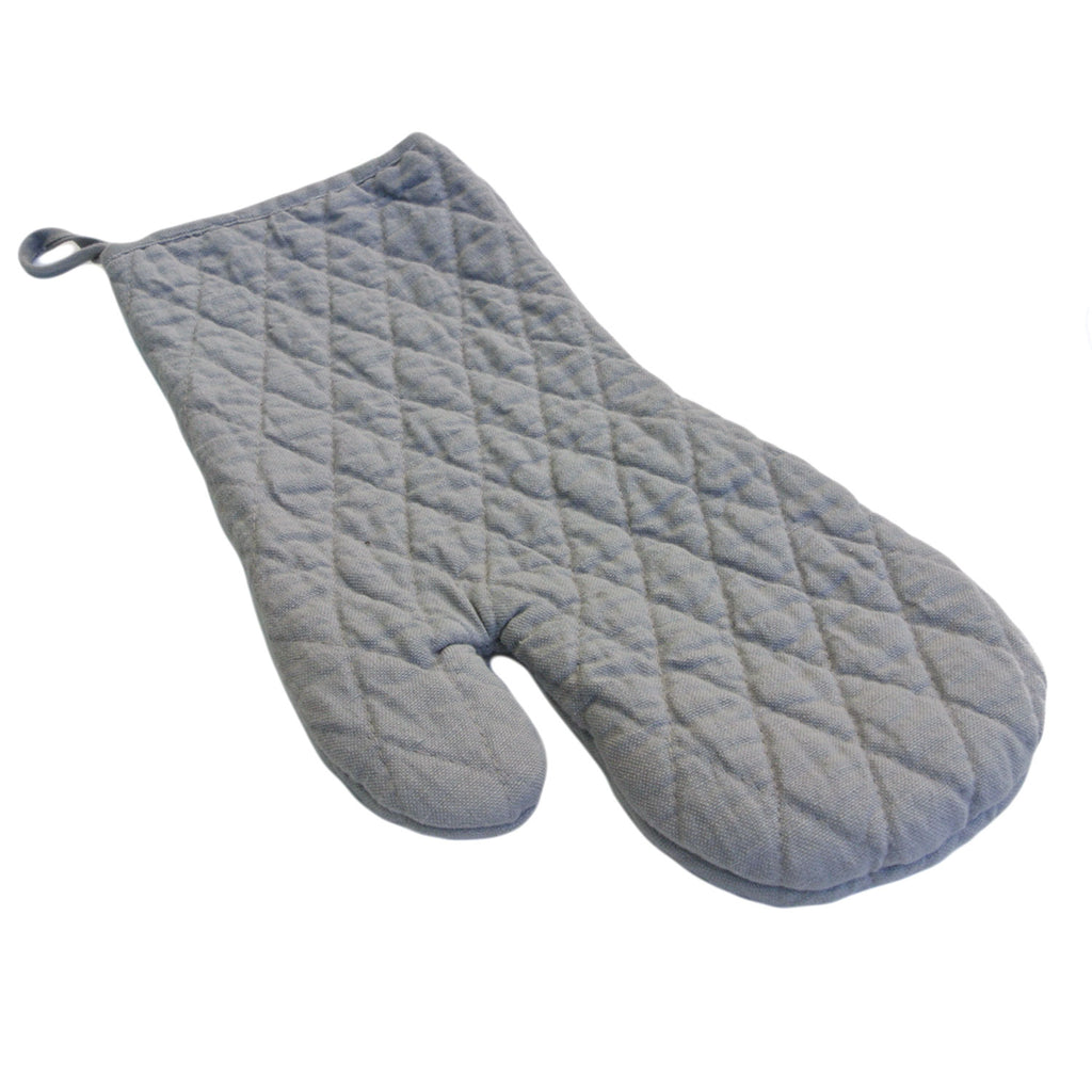 vikolino linen quilted oven mitt grey twang and pearl