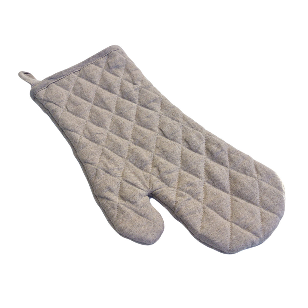 vikolino linen quilted oven mitt natural twang and pearl