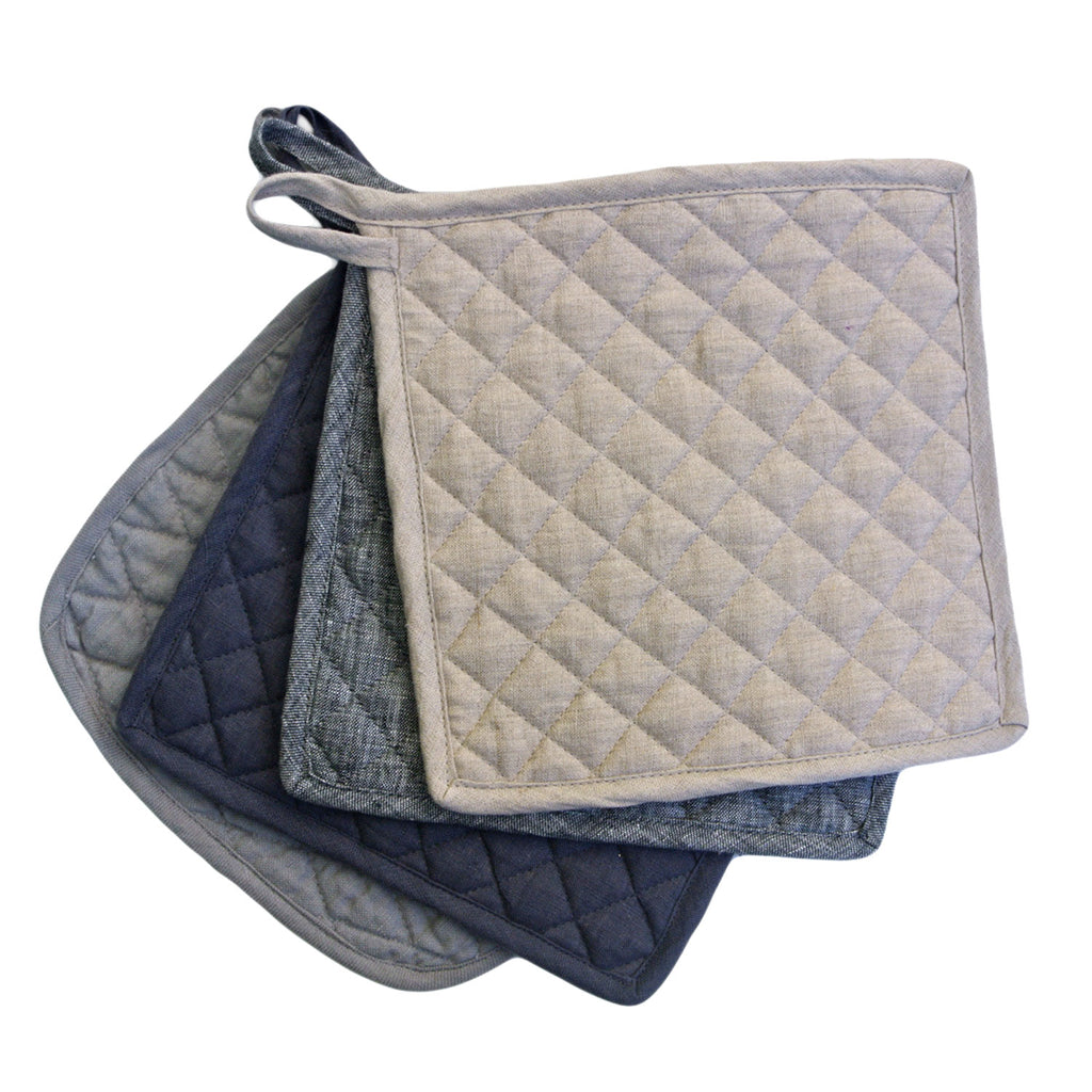 vikolino linen quilted pot holder at twang and pearl