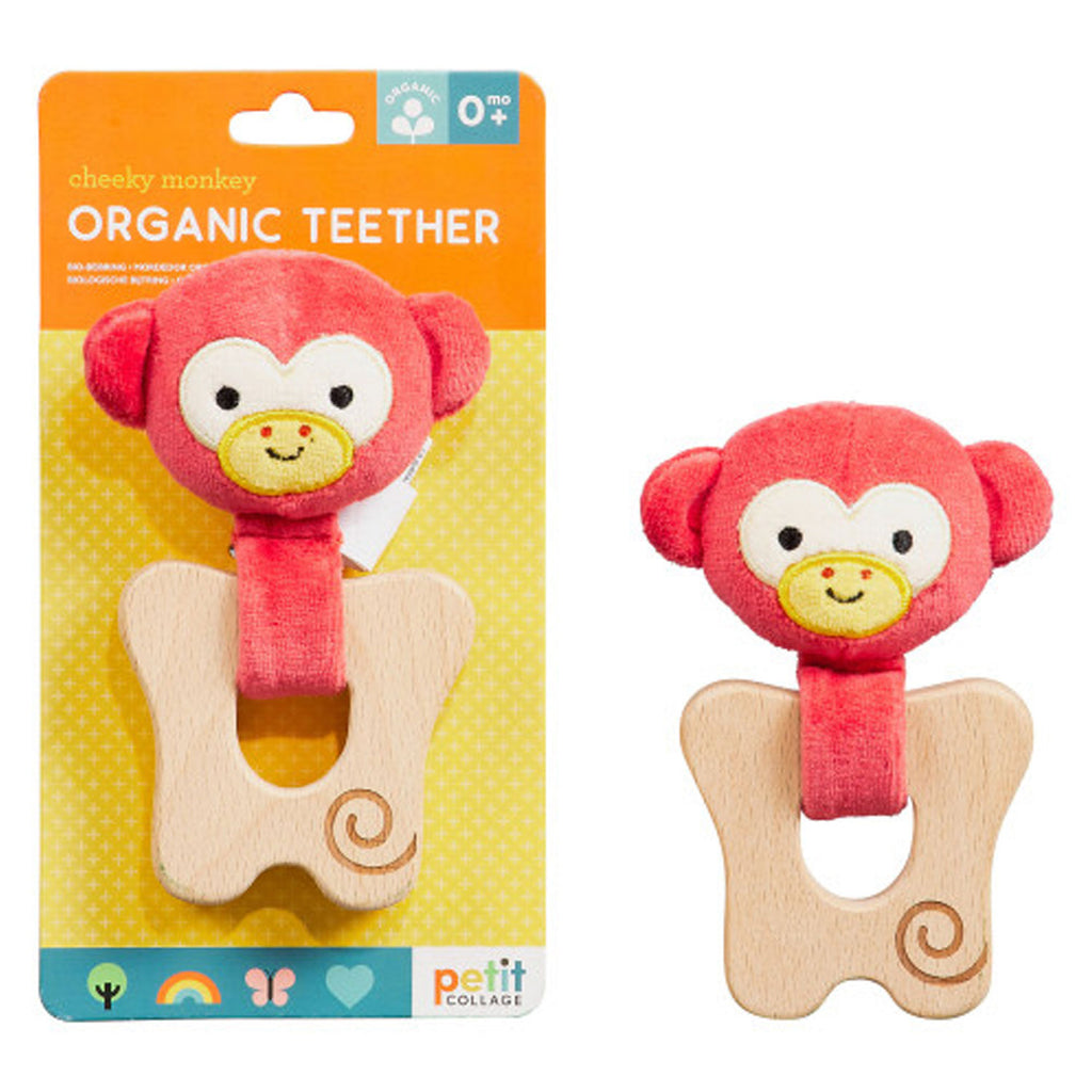 Petit Collage Organic Teether Monkey at Twang and Pearl