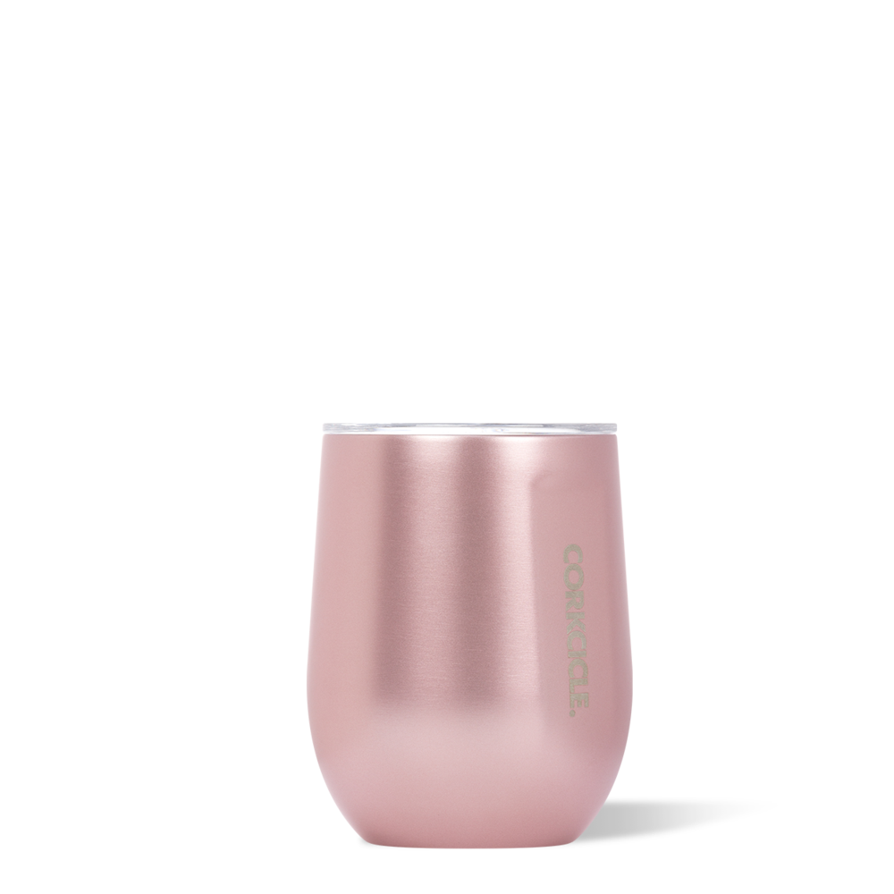 twang and pearl corkcicle stemless tumbler rose metallic