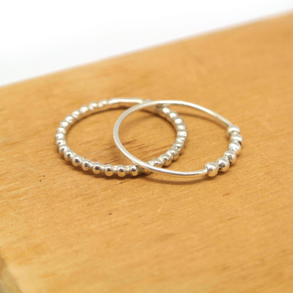 twang and pearl sterling stacking ring