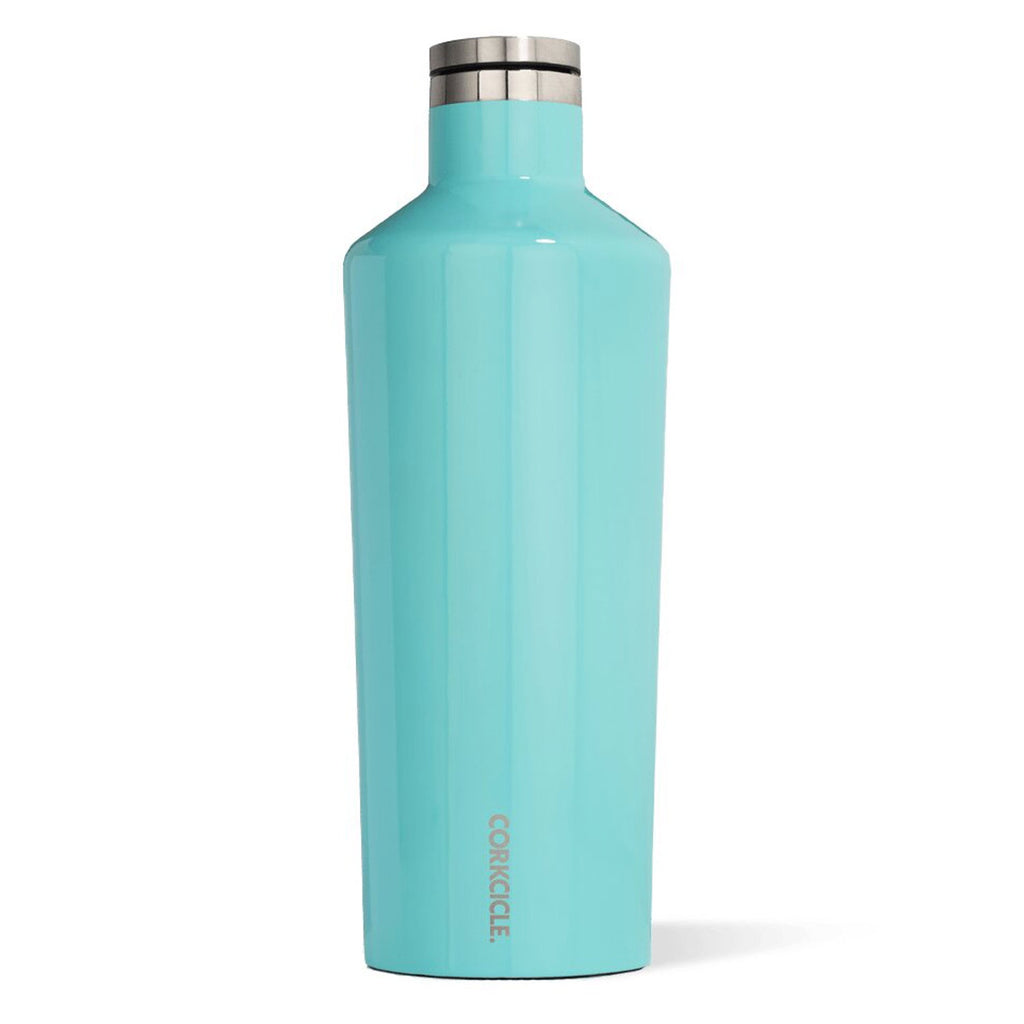corkcicle canteen 60oz gloss turquoise at twang and pearl