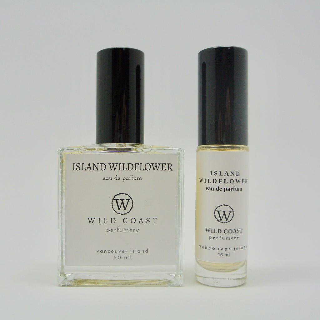 wild coast perfumery island wildflower in 50ml and 15ml at twang and pearl