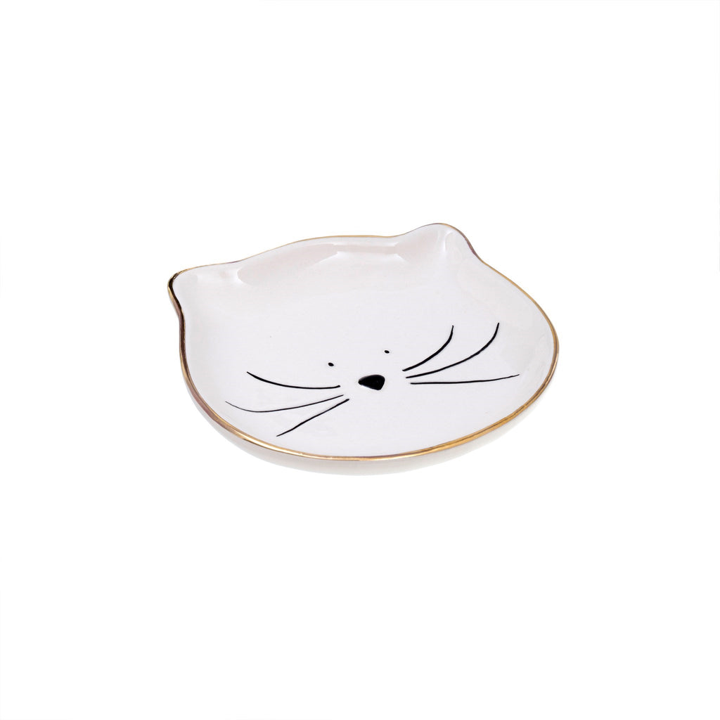 stoneware kitty catch all dish at twang and pearl