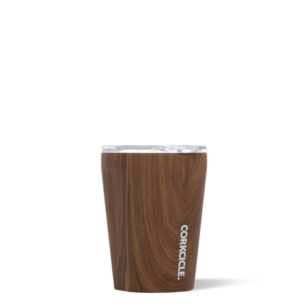 corkcicle 12 oz tumbler in walnut at twang and pearl