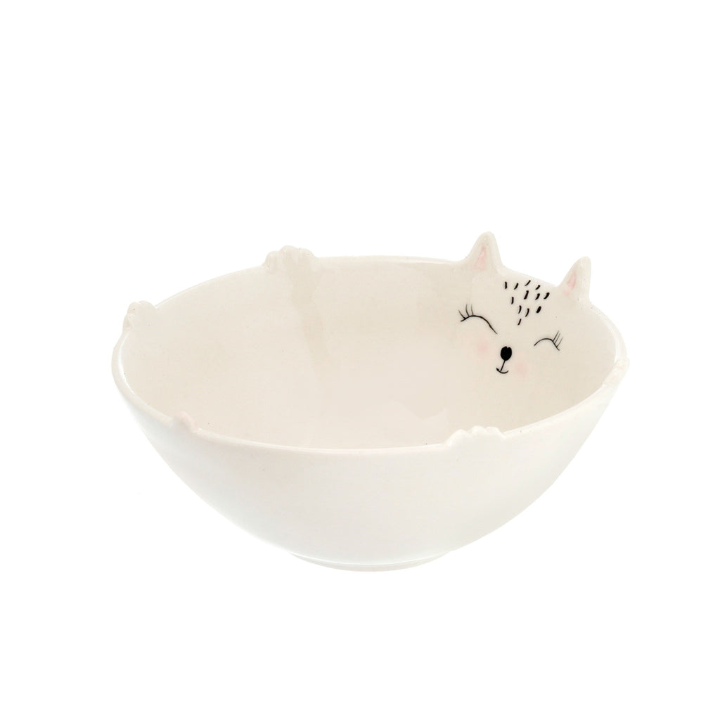 ceramic kitty bowl at twang and pearl