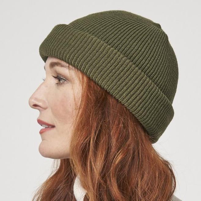 twang and pearl parkhurst wool beanie green
