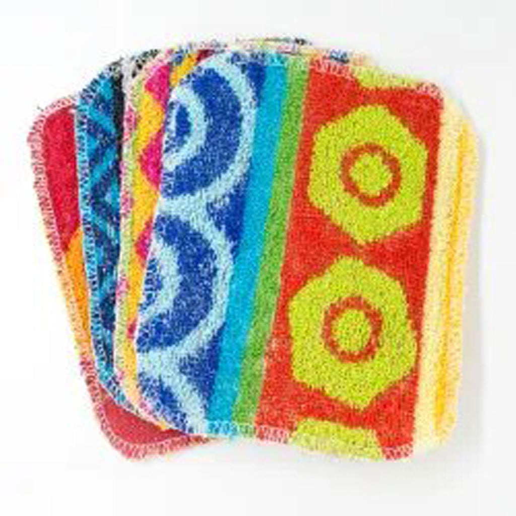 Eco Dish Scrubbers Made from Recycled Cotton in Pretty Patterns