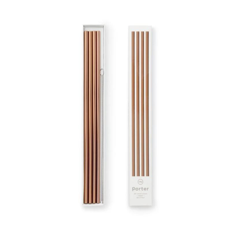 w&p designs metal drink straws copper at twang and pearl