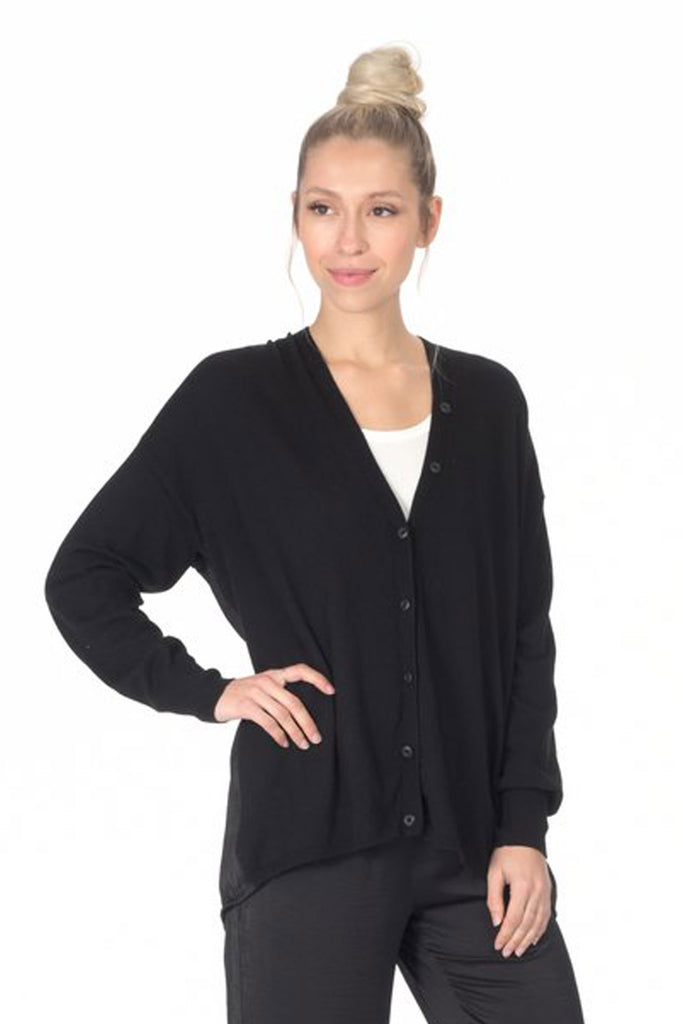 paper label merrica cardigan in black at twang and pearl