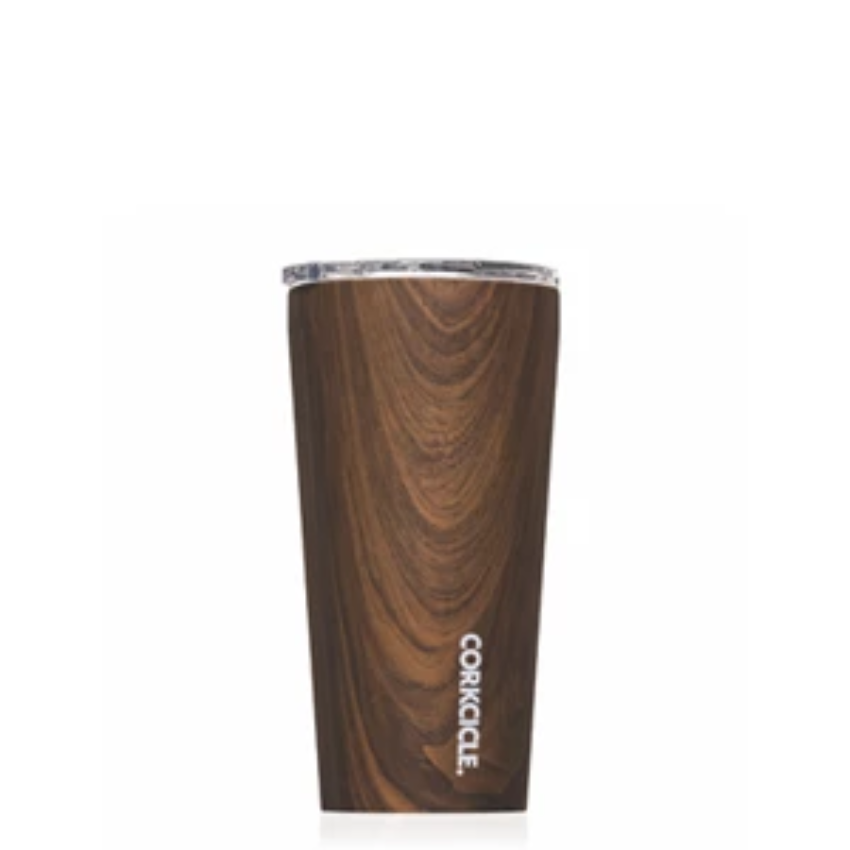 twang and pearl corkcicle tumbler 16oz walnut wood
