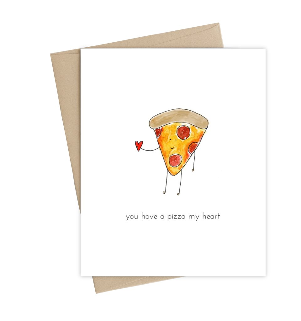 Little May Love Card Pizza My Heart at Twang and Pearl