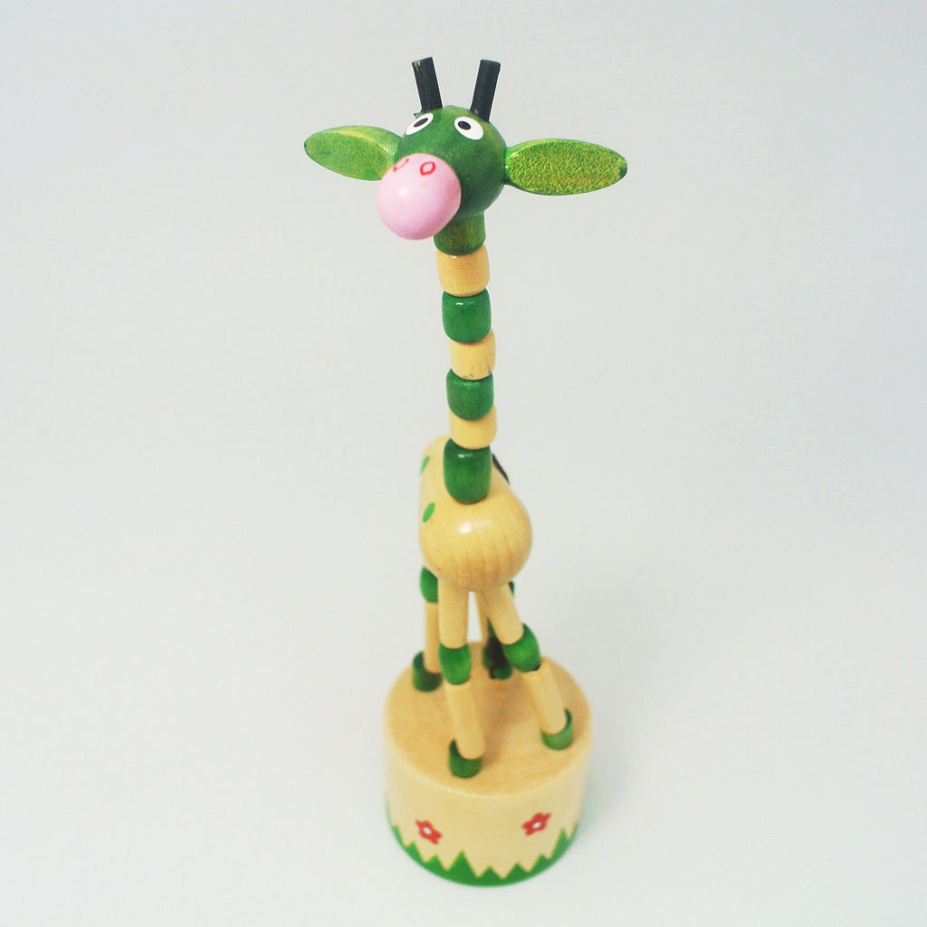 Push Puppet Green Giraffe at Twang and Pearl