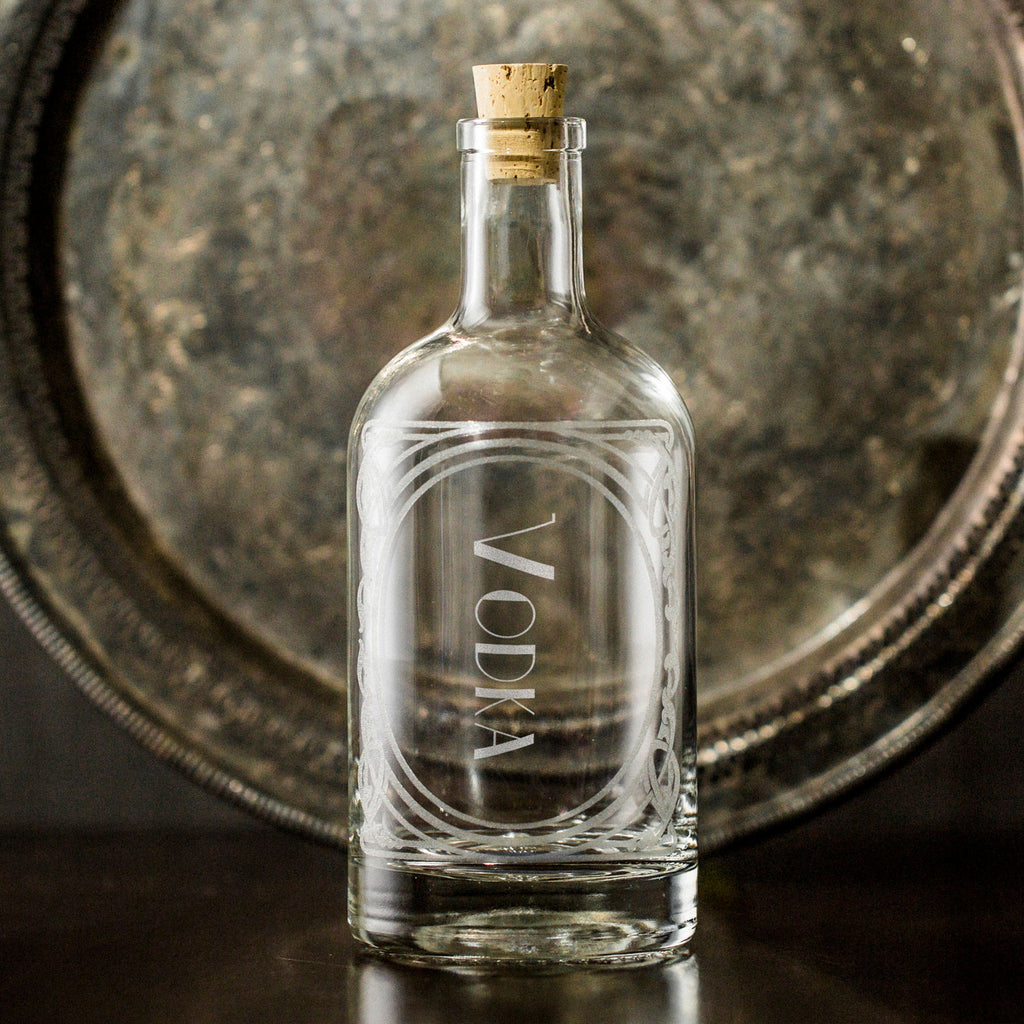 twang and pearl glass decanter vodka