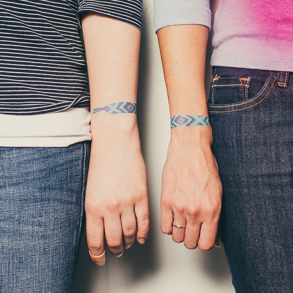 Tattly Temporary Tattoo Friendship Bracelet at Twang and Pearl