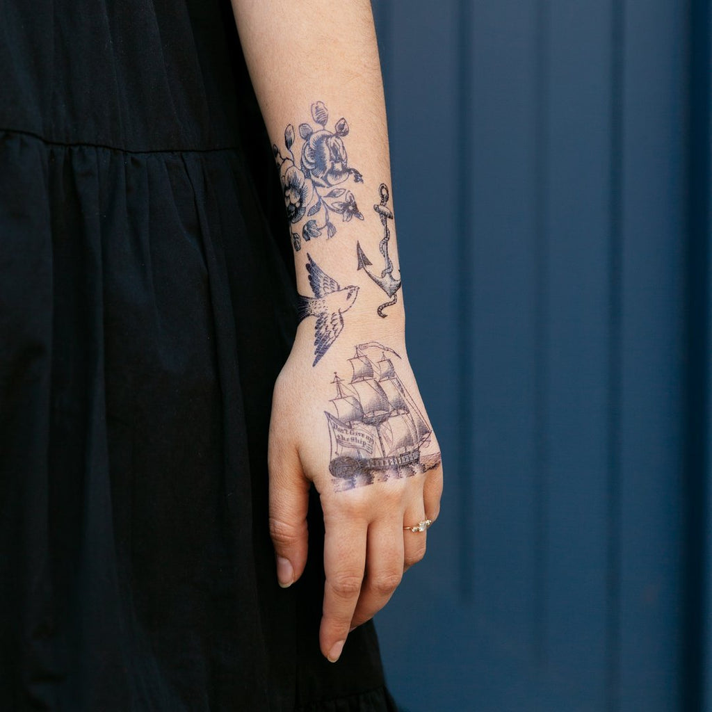 Tattly Temporary Tattoo Nautical Set at Twang and Pearl