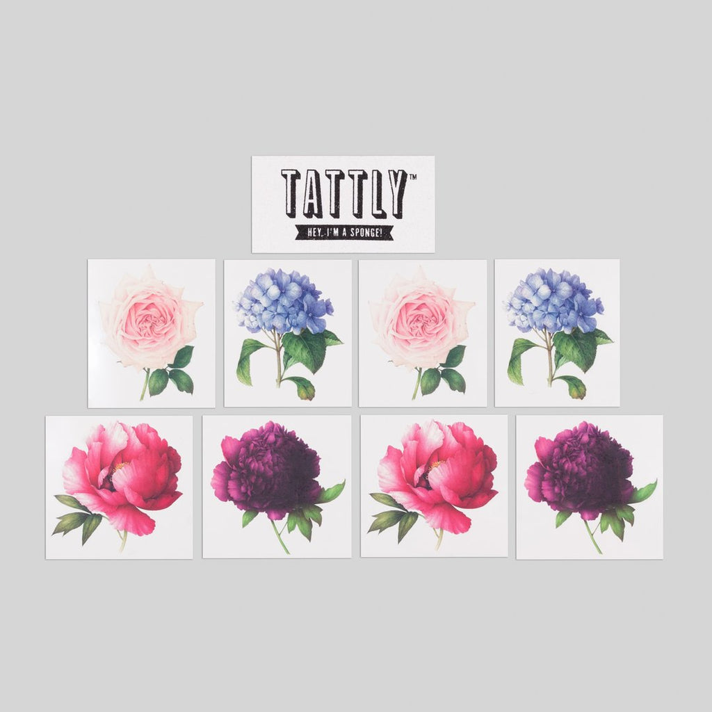 Tattly Temporary Tattoo Perennial Set at Twang and Pearl
