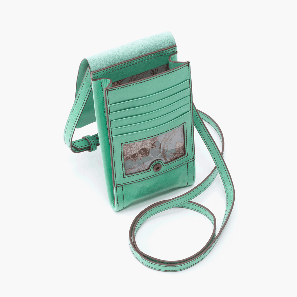 Hobo Token Leather Crossboy Small Handbag in Mint Green