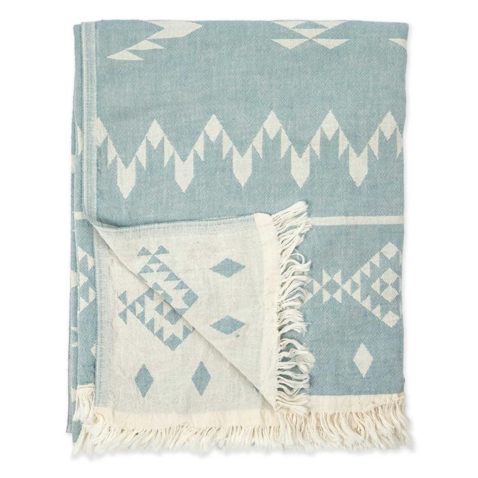 turkish towel atlas blue at twang and pearl