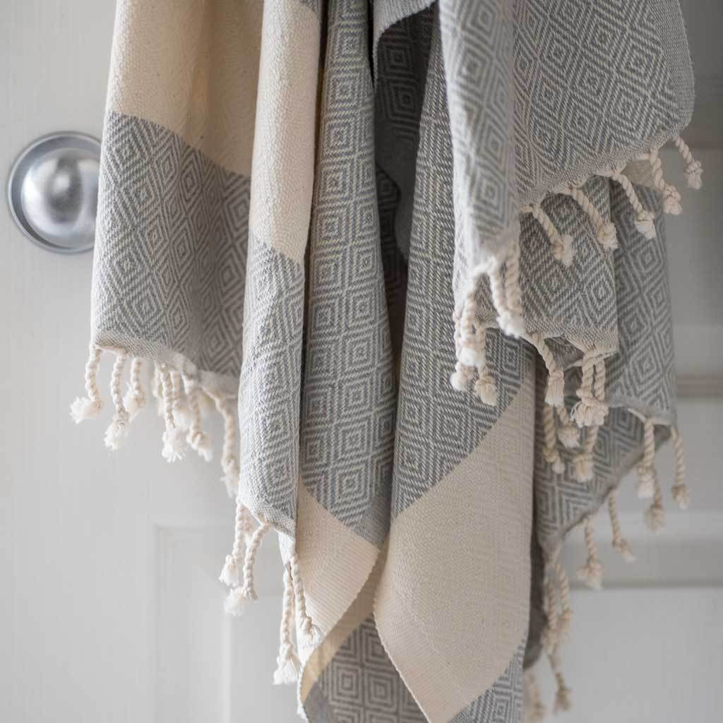 turkish towel diamond mist at twang and pearl