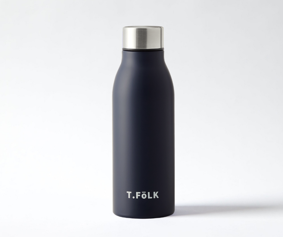 Stainless Steel Insulated Water Bottle Matte Navy Black Neutral Australia