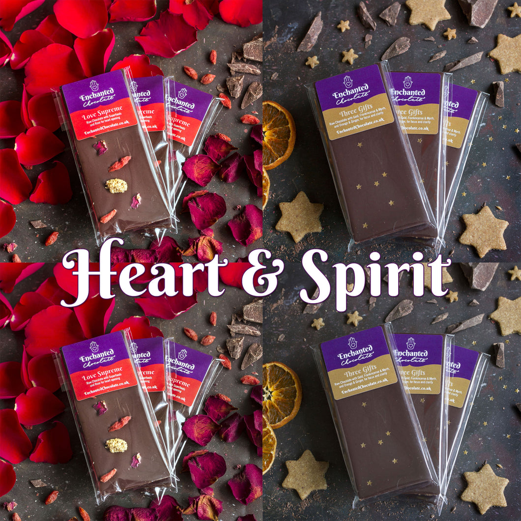 Join Aradhana's Raw Chocolate Club and receive the Heart & Spirit parcel every month