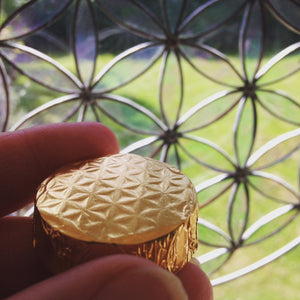 Golden Flower of Life ceremonial cacao
