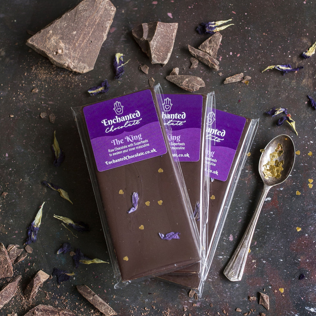 The King raw chocolate bar, 50g, with superfoods to awaken your inner masculine