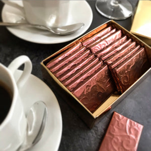 Cardamom Coffee After Dinner Raw Chocolate Thins - gift box