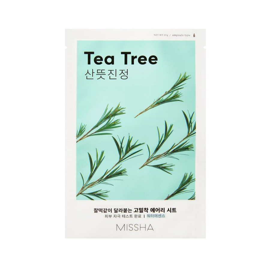 Maschera viso in tessuto al Tea Tree Airy Fit-MISSHA-Local Beauty