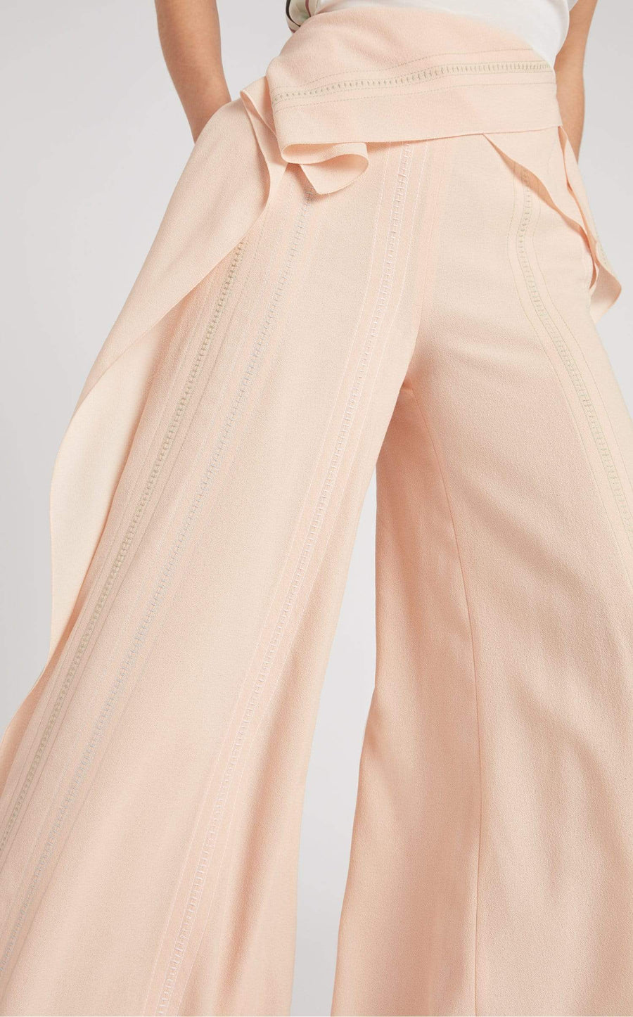 Argott Trouser In Light Peach Multi from Roland Mouret