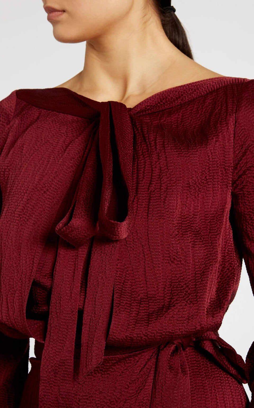Pilar Top In Cabernet from Roland Mouret