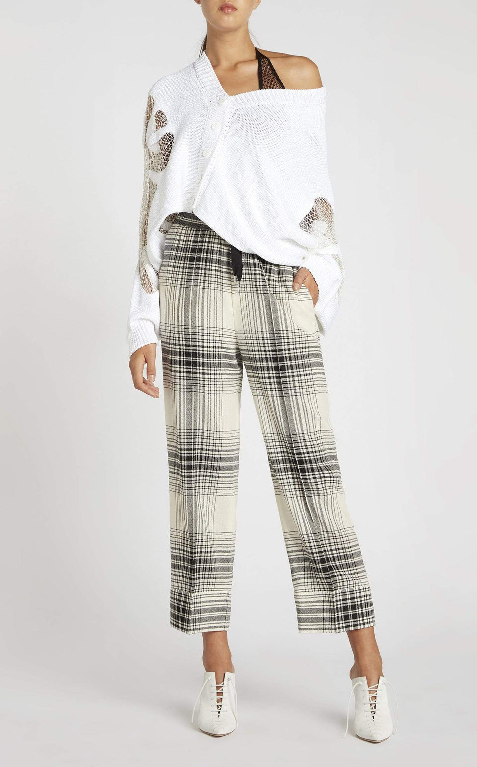Coles Trouser In Monochrome from Roland Mouret