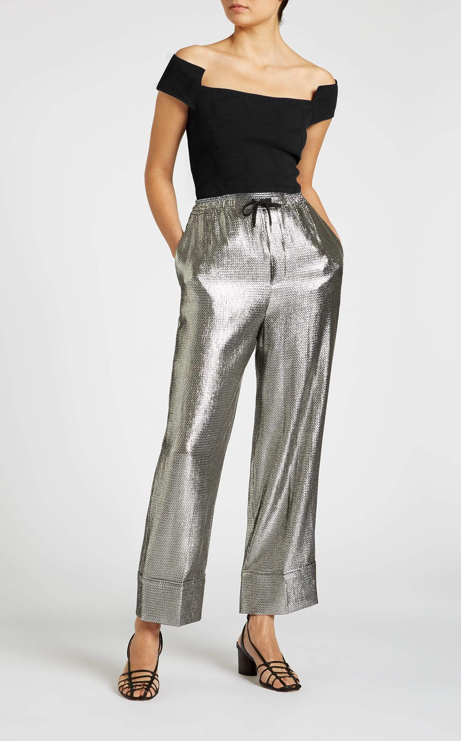 Coles Trouser In Silver from Roland Mouret
