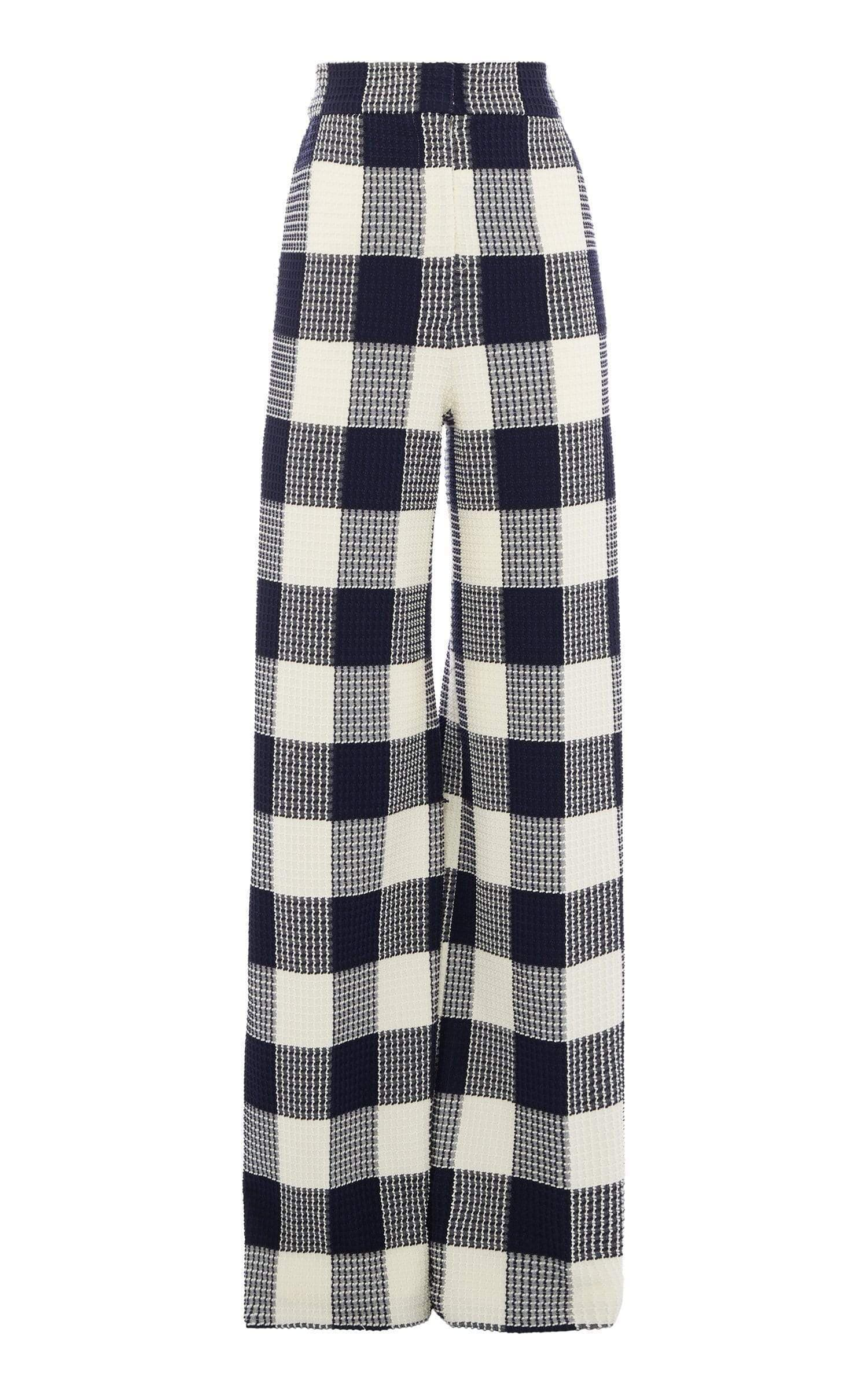Delano Trouser In Navy/White from Roland Mouret