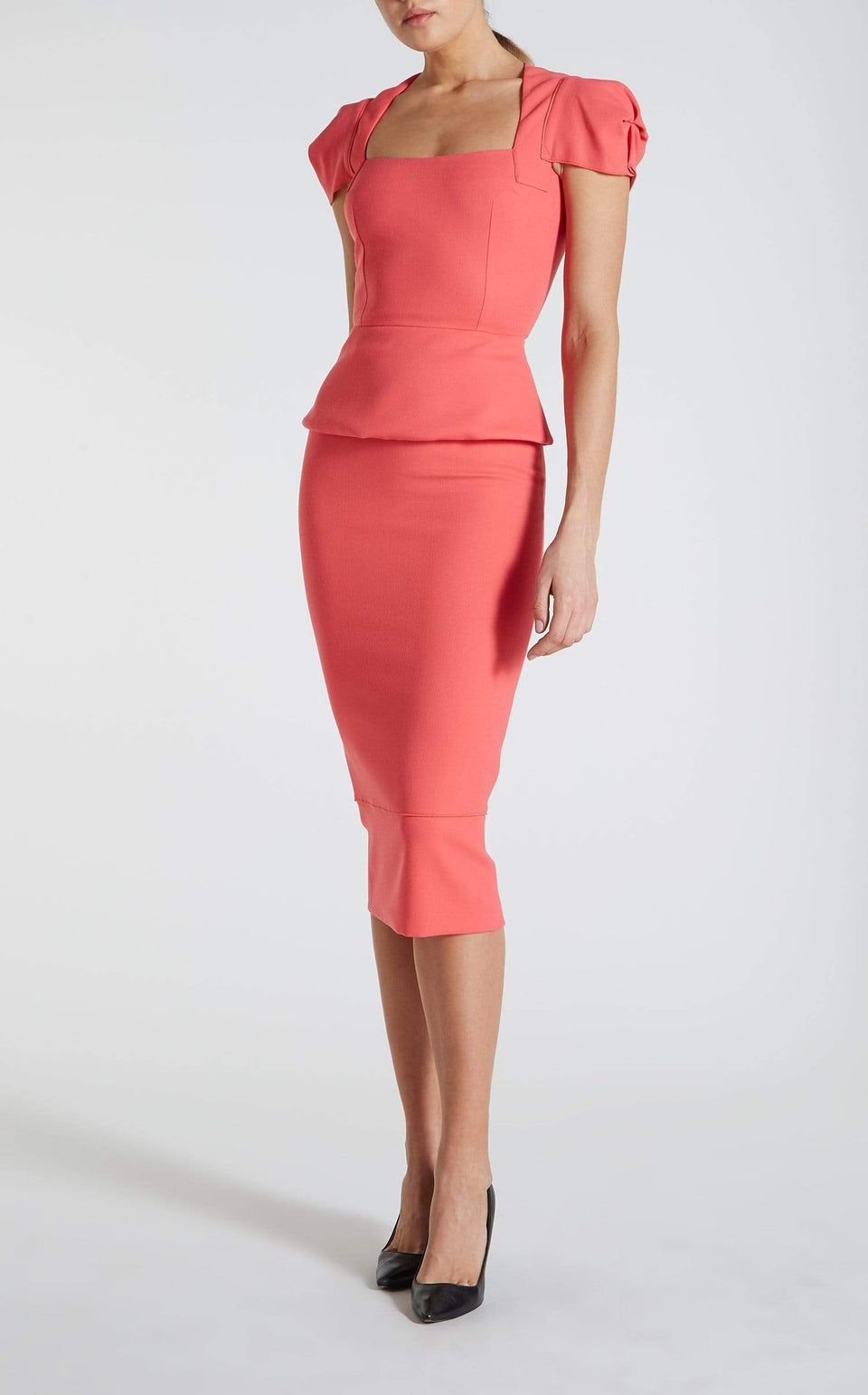 Galaxy Skirt In Rose Pink from Roland Mouret