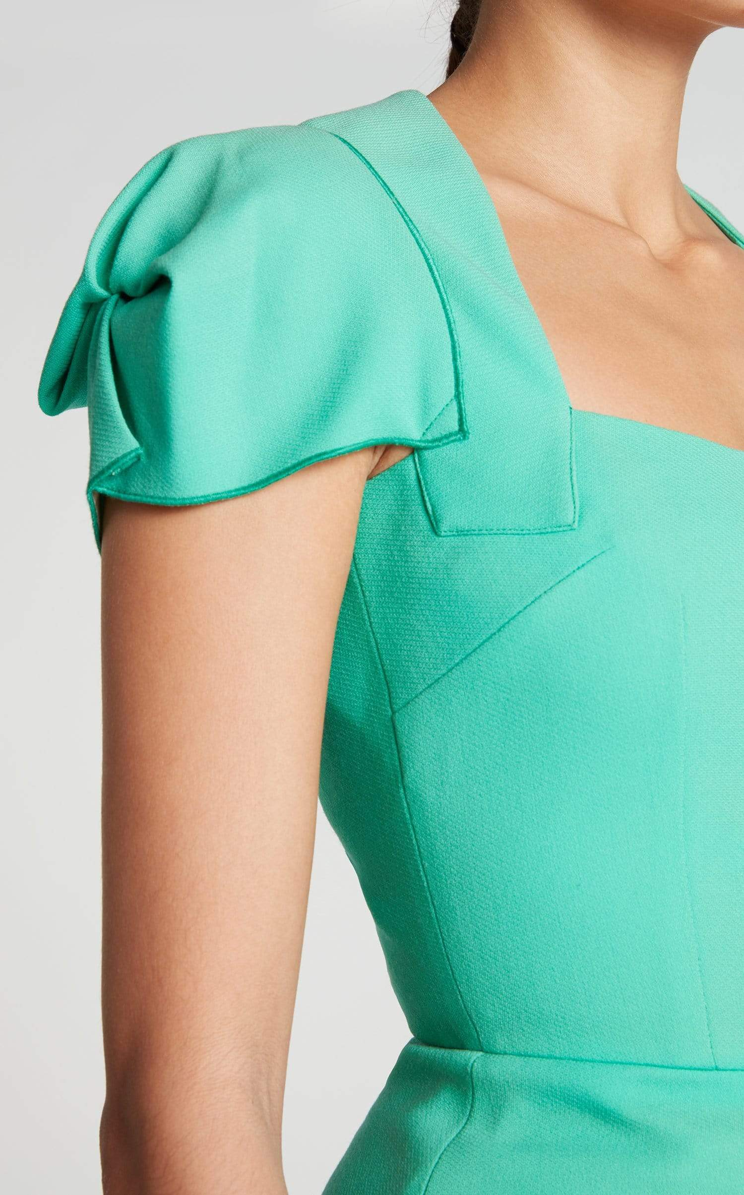 Galaxy Top In Peppermint Green from Roland Mouret