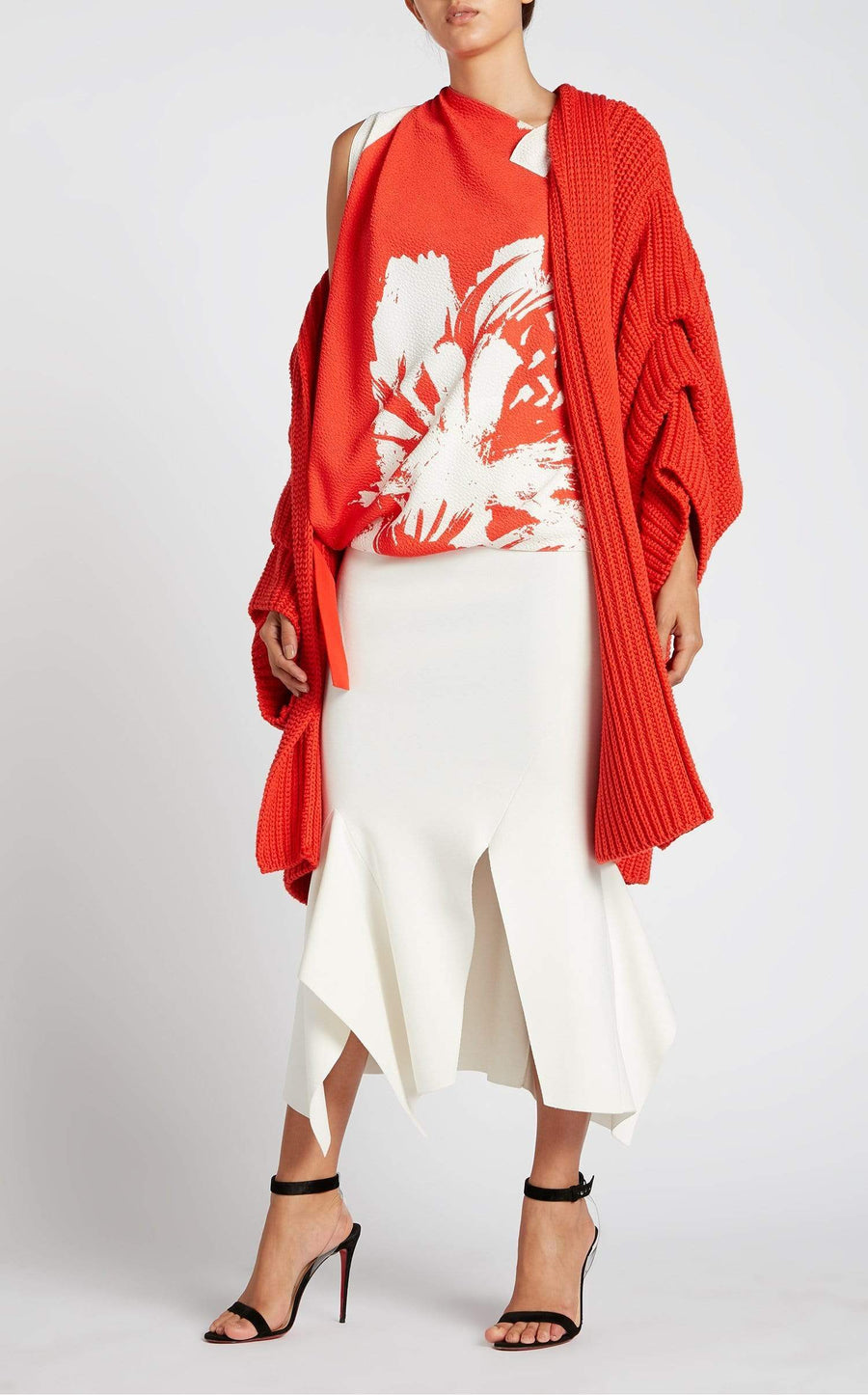 Ives Coat In Poppy Red from Roland Mouret