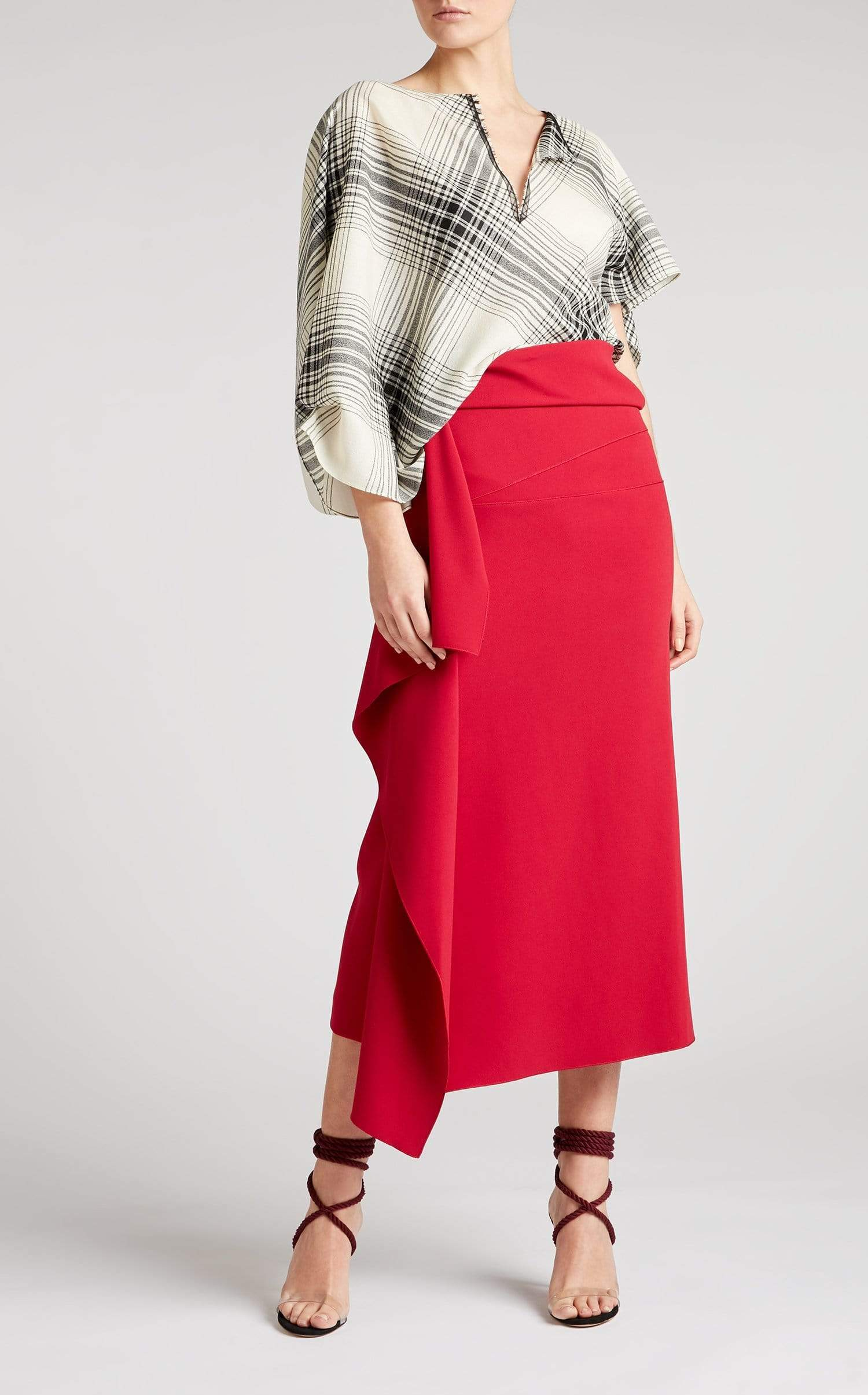 Kelley Skirt In Ruby from Roland Mouret