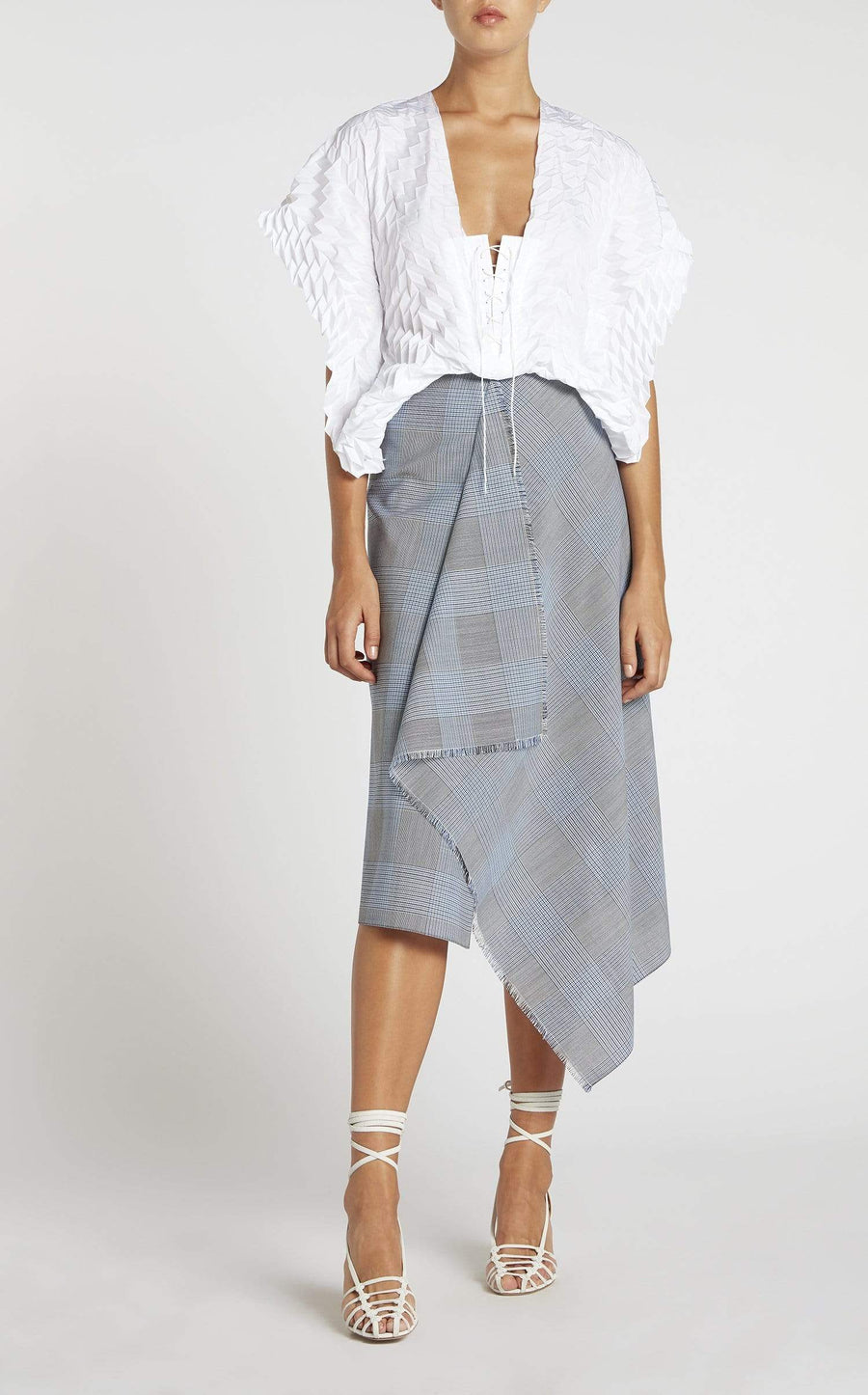 Panama Skirt In Navy from Roland Mouret
