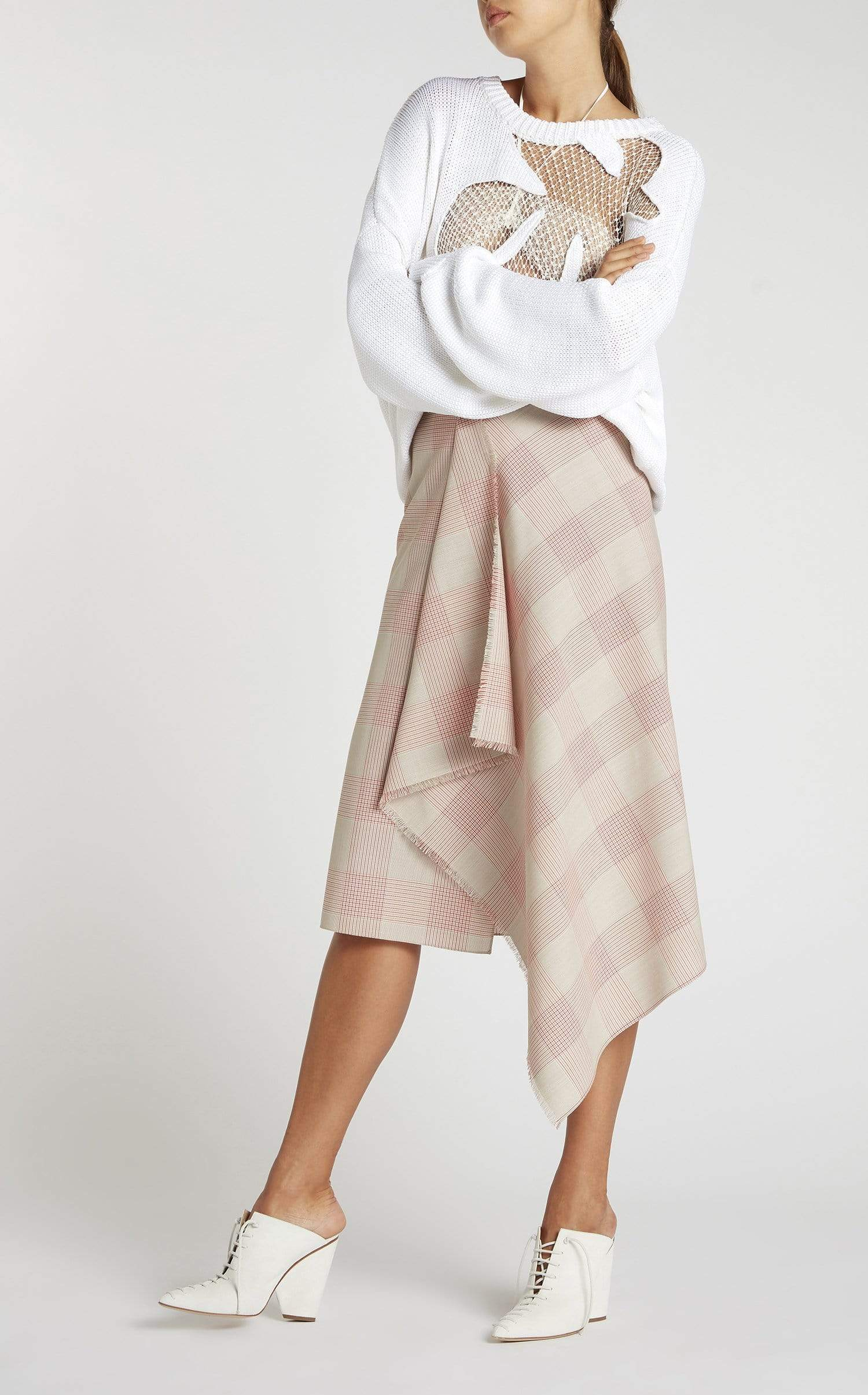 Panama Skirt In Oatmeal from Roland Mouret